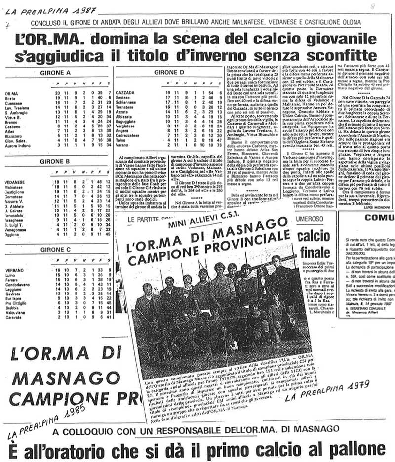 Stampa OrMa Masnago